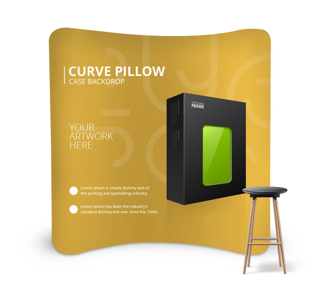 Corner Exhibition Stands Canada : Backdrop banner stands curved backdrop display bannerbuzz