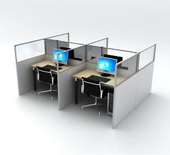 SEG Office Desk Partitions - 4 Desk