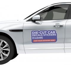 Die-Cut Car Decals / Stickers (Clear)