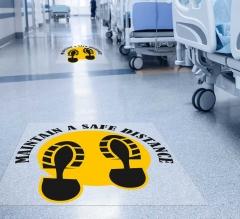 Maintain a Safe Distance Floor Decals
