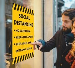 Social Distancing No Gathering Window Decals