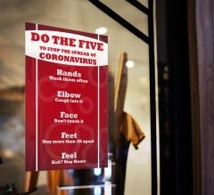 Do the Five To Stop Spread Coronavirus Window Clings