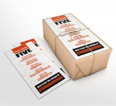 Do the Five Help Stop Spread Coronavirus Business Flyers (Non folded)