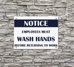 Notice Employees Must Wash Hands Compliance signs