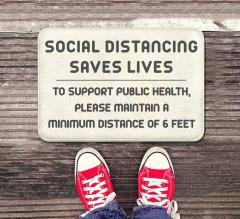 Social Distancing Saves Lives Indoor Floor Mats