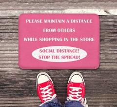 Please Maintain Distance Indoor Floor Mats