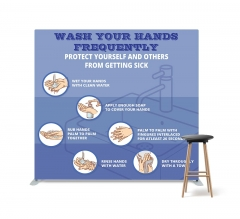 Wash your Hands Frequently Straight Pillow Case Backdrop