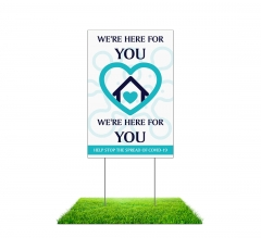 Stay Home For Us Stop the Spread Yard Signs (Non reflective)