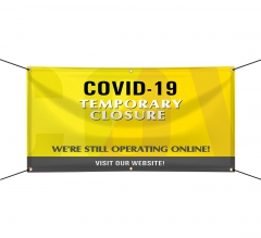 Covid-19 Temporary Closure Vinyl Banners
