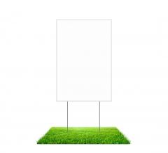 Blank Yard Signs