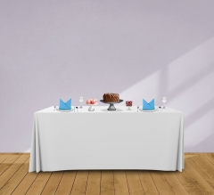 6' Convertible/Adjustable Table Covers - White