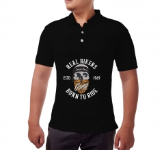 Custom Black Polo Shirt - Printed