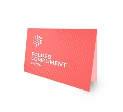 Folded Compliment Cards