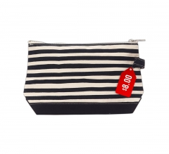 Free Karma Stripe Makeup Bag