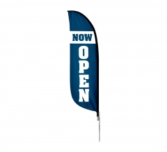 Pre-Printed Now Open Feather Flag