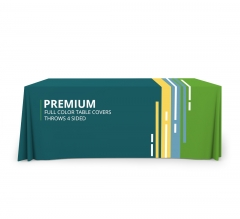 Premium Full Color Table Covers & Throws - 4 Sided