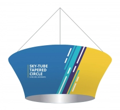 Sky Tube Tapered Circle Hanging Banners