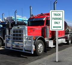 Truck Parking Only Signs