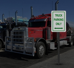 Reflective Truck Parking Only Signs