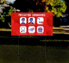HIP Reflective Yard Precaution Signs
