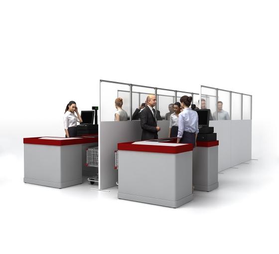 SEG Portable Straight Line Queuing Panel
