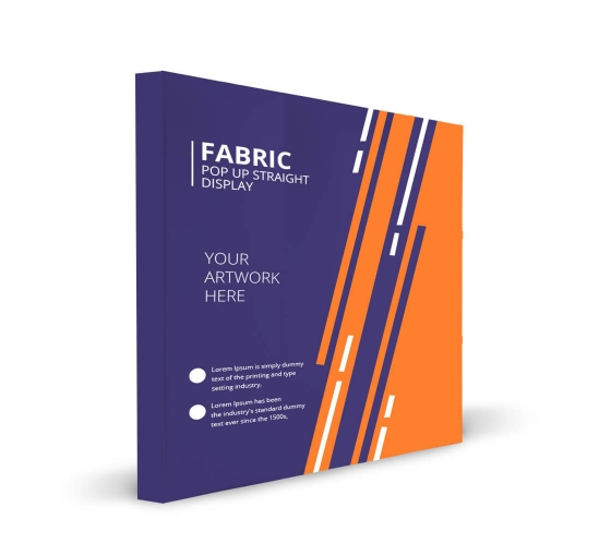 Fabric Pop Up Straight Display