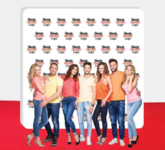 10 ft x 10 ft Step and Repeat Wall Box Fabric Display