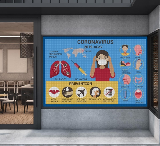 Awareness Perforated Window Signs