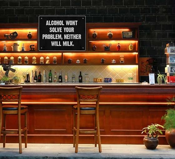Reflective Bar Signs