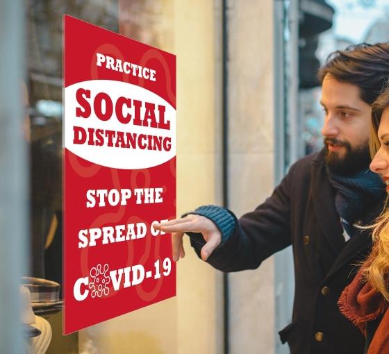 Practice Social Distancing Stop the Spread Window Decals