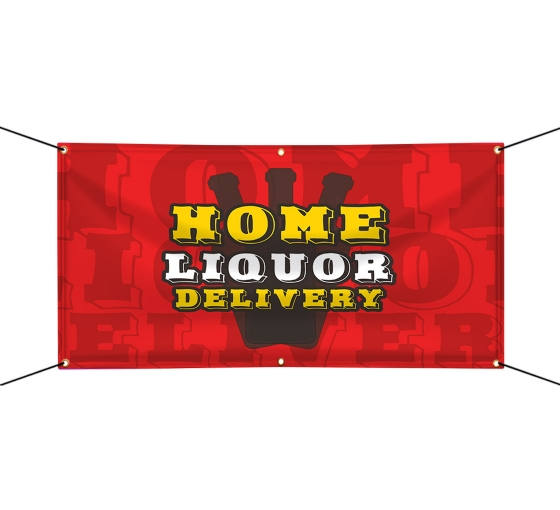 Home Liquor Delivery Available Vinyl Banners