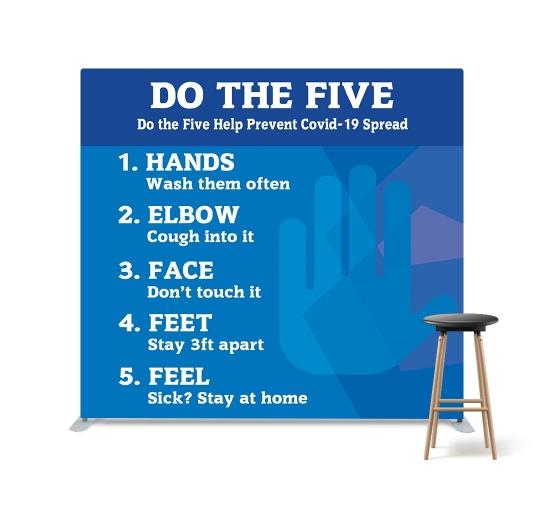 Do the Five Help Stop Spread Coronavirus Straight Pillow Case Backdrop
