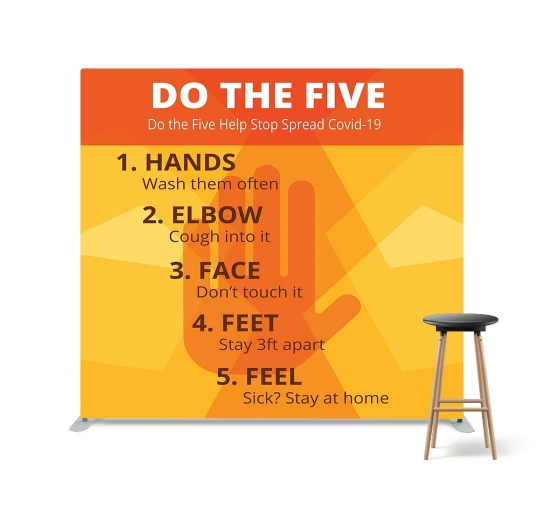 Do the Five Help Stop Spread Covid-19 Straight Pillow Case Backdrop