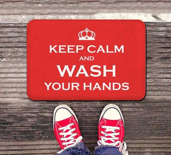 Keep Calm and Wash your Hands Indoor Floor Mats