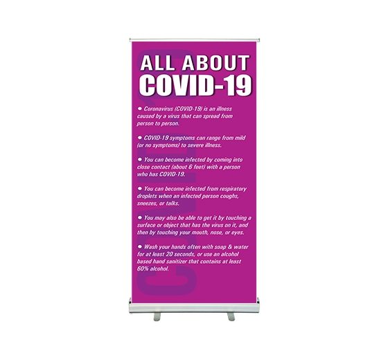 All About Coronavirus Disease Roll Up Banner Stands