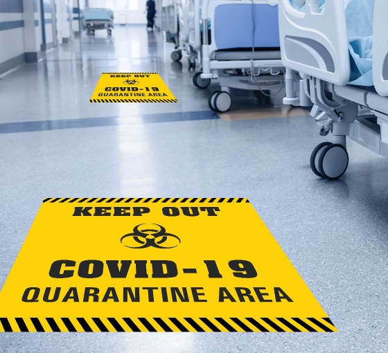 Keep Out Covid-19 Quarantine Area Floor Decals