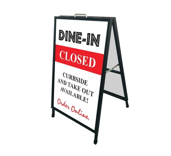 Dine In Closed Metal Frames