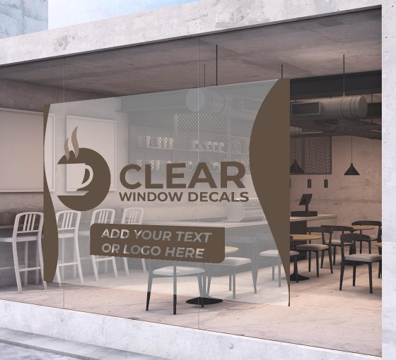 Clear Window Decals