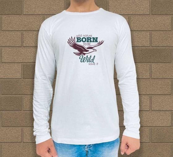 Custom Printed Long Sleeves T-Shirt - Crew Neck