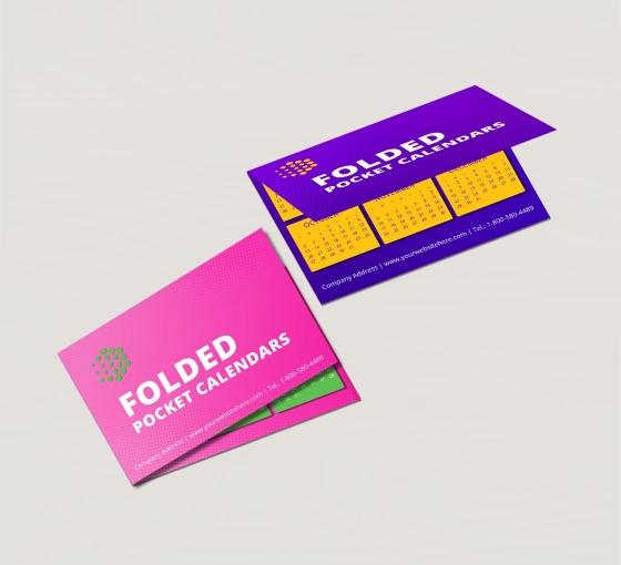 Folded Pocket Calendars