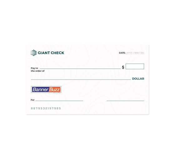 Custom Giant Cheques