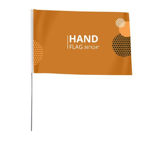 Hand Waving Flags
