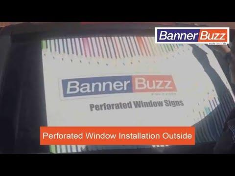 Perforated Window Signs or One Way Vision Signs