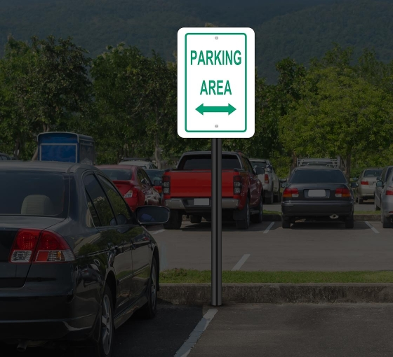Reflective Parking Lot Signs