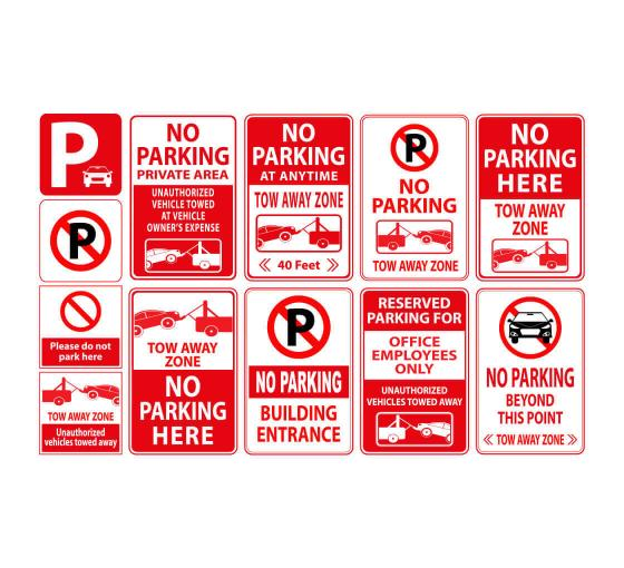 12w x 18h Staff Only Easy to Mount Parking and Street Sign