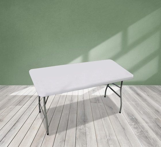 4' Rectangle Table Toppers - White