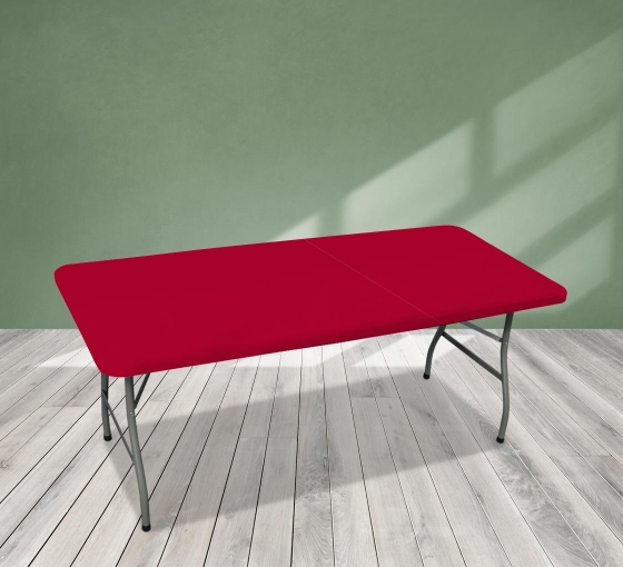 6' Rectangle Table Toppers - Red