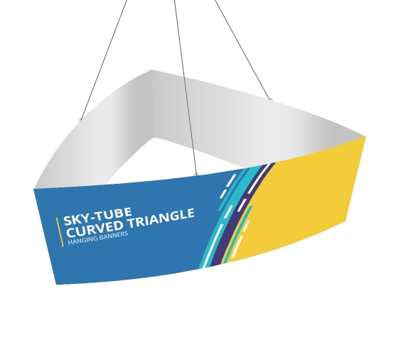 Sky Tube Curved Triangle Hanging Banners