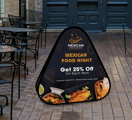 Triangle Pop Up Banners
